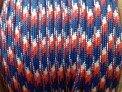 Паракорд, цвет RED, WHITE, BLUE, тест 650